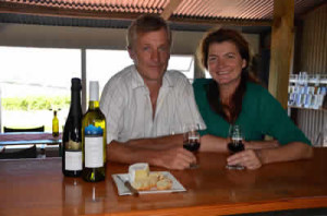 Tod and Suzanne Warmer of Mt Jagged Wines