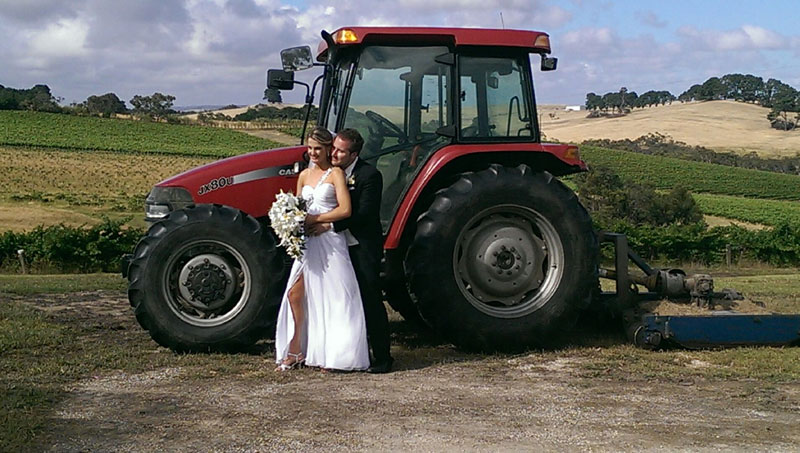 wedding-with-tractor